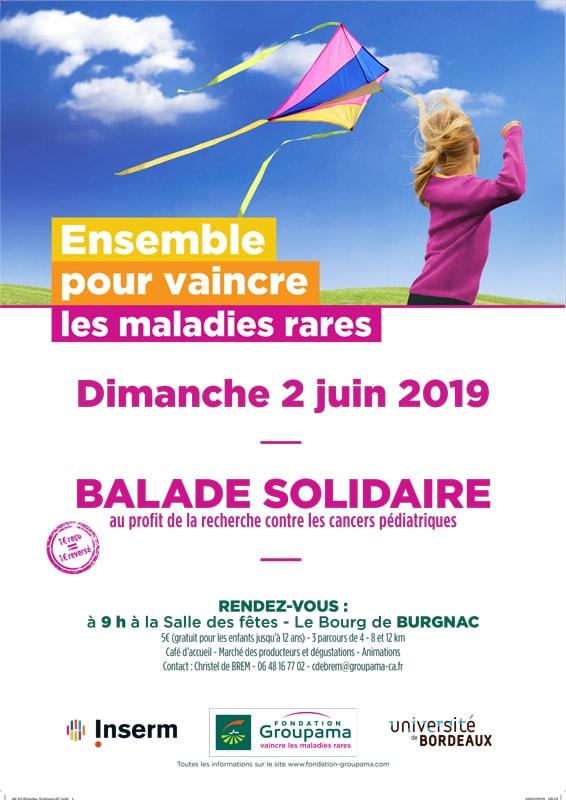 Ballade Solidaire à Burgnac le dimanche 2 juin 2019 – 9h