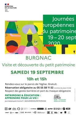 BURGNAC PARTICIPE AUX JOURNEES DU PATRIMOINE
